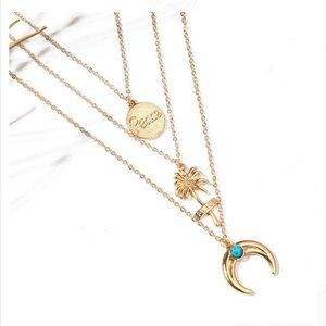 New! Women's Gold Multilayered Bohemian Necklace